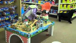 Kids At Thomas Train Table At Toy House