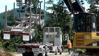 forest machines loading logging truck new zealand