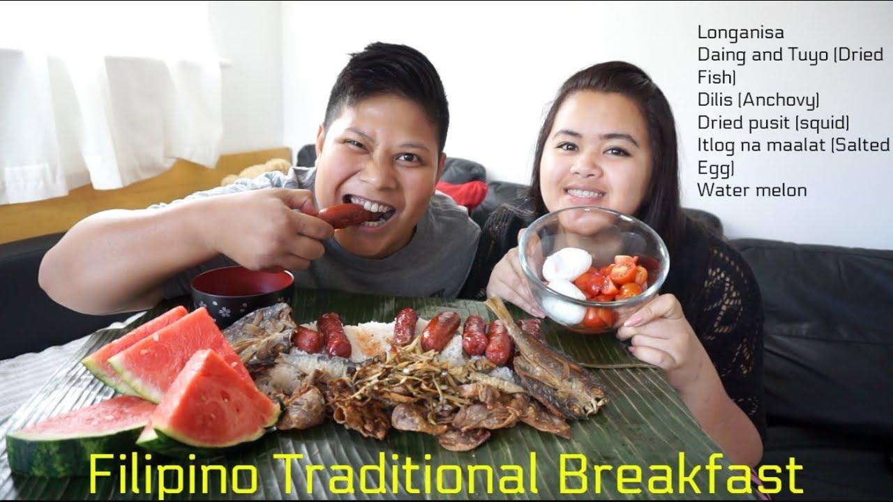 Mukbang Traditional Filipino Breakfast Boodle Fight Kamayan