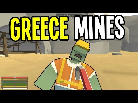 Unturned - CLEARING the MINES with a CROWBAR - Greece Map Survival - Episode 6