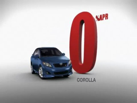 Toyota 0% APR Commercial