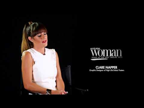 Emirates Woman Woman Of The Year 2015, Artist Nominee – CLARE NAPPER