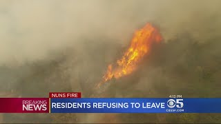 Aerial Drone Footage Shows Endless Smoke And Fire In The North Bay