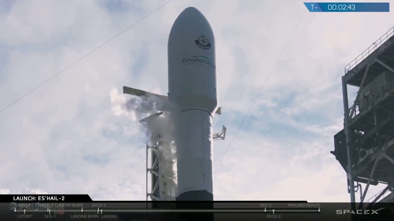 WATCH LIVE: SpaceX to Launch Falcon 9 Rocket #Es'hail 2 @3:46pm EST