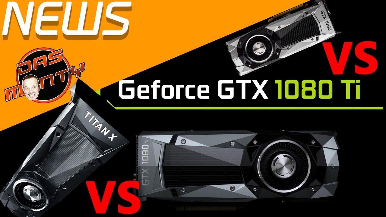 Nvidia GeForce GTX 1080 ti vs GTX Titan X Pascal vs GTX 1080 Technische Daten 1080ti Deutsch German - YouTube