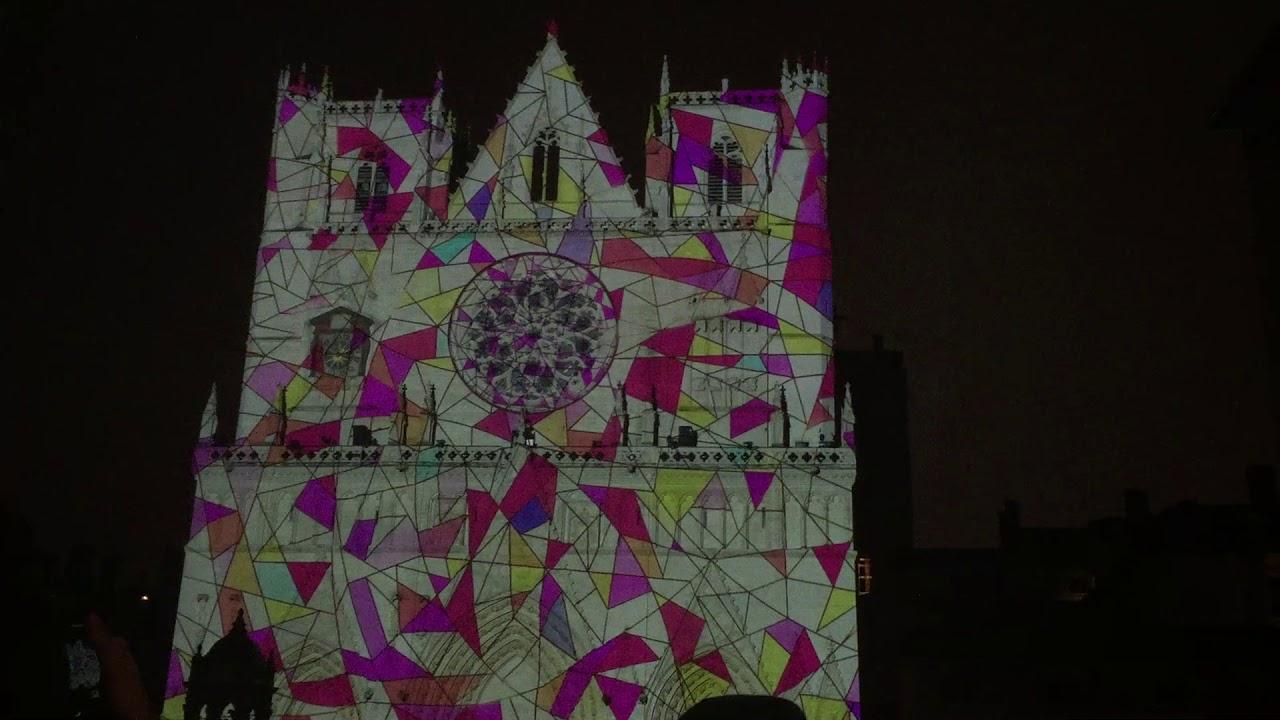 Fête des lumières 2017 - Lyon - Cathédrale Saint-Jean-Baptiste