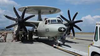 HIGH ALERT : The US Navy's E 2D Advanced Hawkeyes Watch for Chinese Stealth Fighters