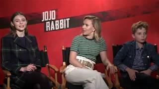 JOJO RABBIT Interviews - Scarlett Johansson, Roman Griffin Davis, Thomasin McKenzie