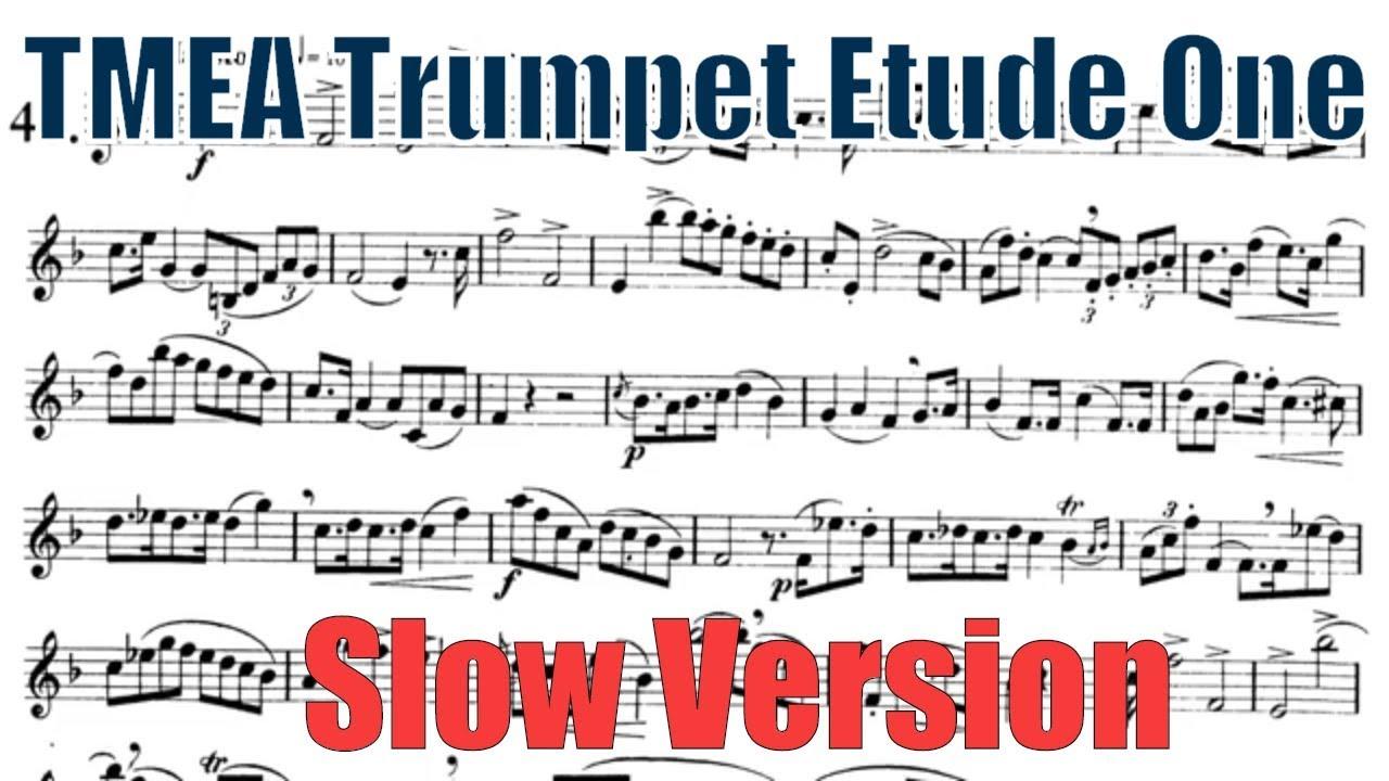 2020 Trumpet Etude 1 (Slow Version) - Texas All State TMEA