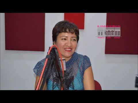 Mtra. Elizabeth Valdez Caro, programa de radio En Curso, El Colegio de Sinaloa