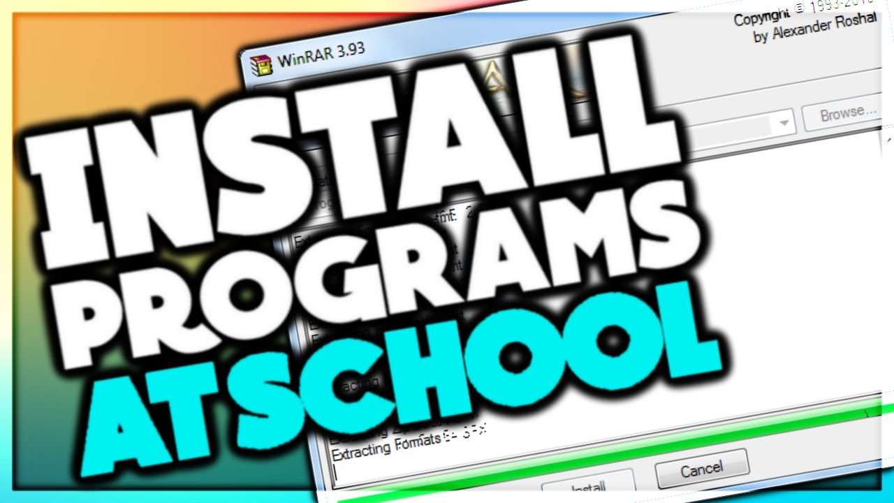 How to install programs on a windows school computer 2017 (7,8,10)