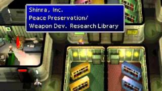 Final Fantasy VII how to get password on first try 63rd floor Shinra building Mayor Dominos password