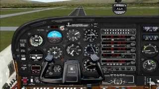 Flight Simulator 2000: Aproach and Landing to Klamath Falls (LMT)