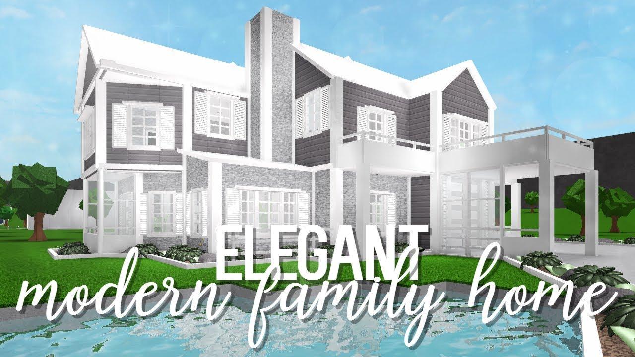 Bloxburg Elegant Modern Family Home 110k Youtube