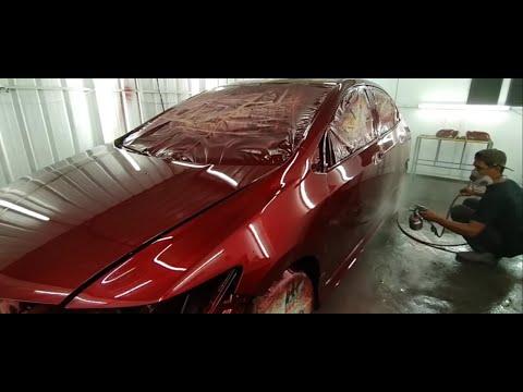 Repaint Honda City Done / Colour Ruby Red Part 2