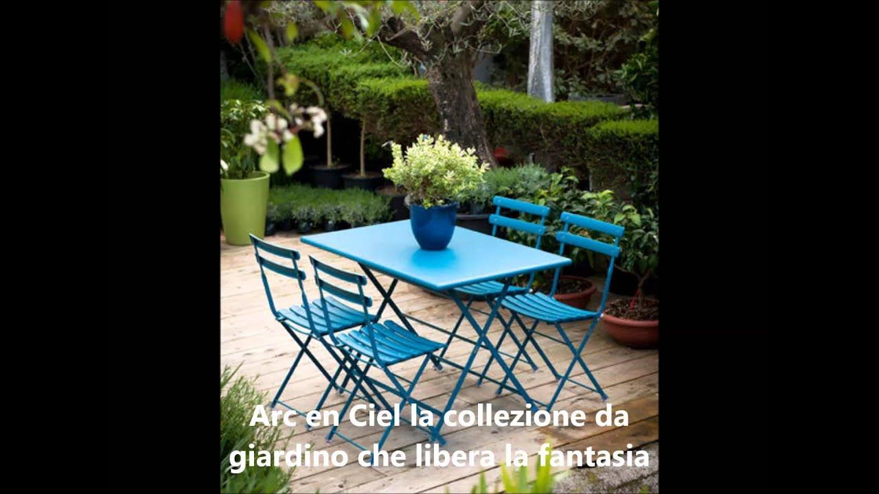 mobili da giardino emu - YouTube