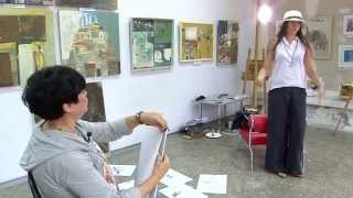 Мастер класс Елены Ильичевой, живой рисунок с натуры