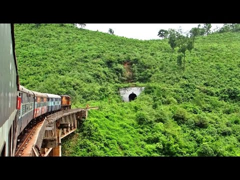 MONSOON Railways in INDIA : Koraput Rayagada Journey through Tunnels & Viaducts
