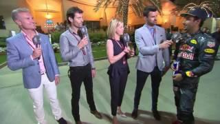 2016 Bahrain Post Race Channel 4: Daniel Ricciardo
