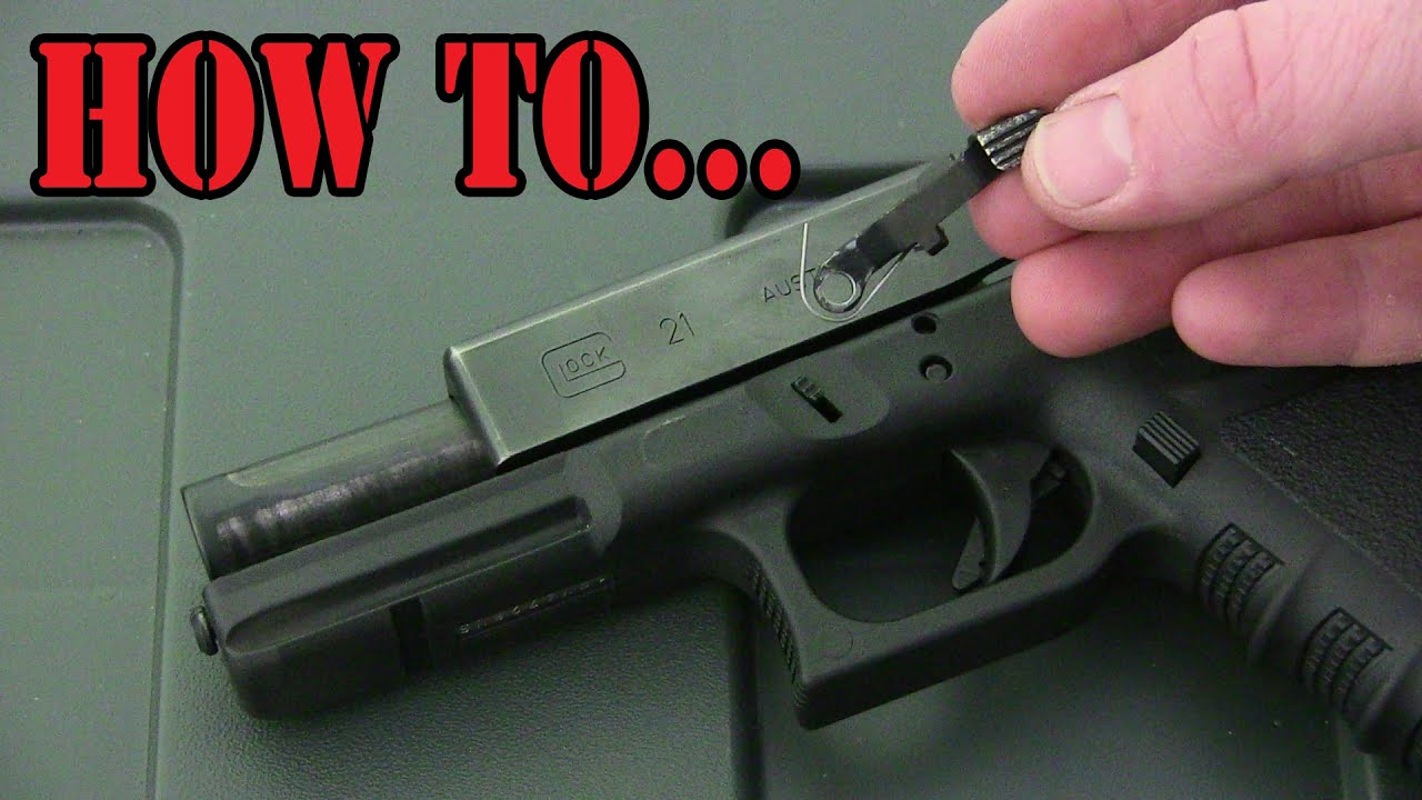 How To Remove A Glock Slide Release