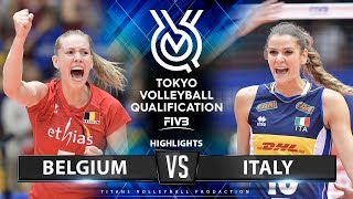 Belgium Vs Italy | Highlights | Women's Volleyball Olympic Qualifying Tournament 2019