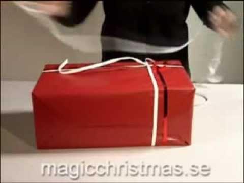 Упаковка большого подарка
