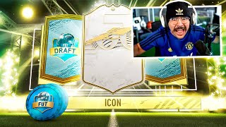 I PACKED AN ICON IN MY FUT DRAFT REWARDS!! WTF! FIFA 21