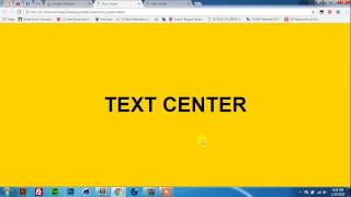 CSS Center text Horizontal and Vertical
