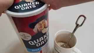 Quaker oats 언박싱 퀘이커오트밀 먹는 방법 몸…