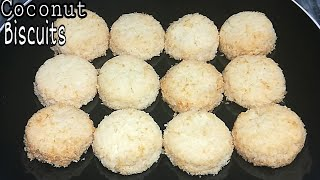 Coconut Biscuits Recipe|Coconut Cookies Recipe at Home(Bakery Style)Coconut cookies|Roshni Cooking