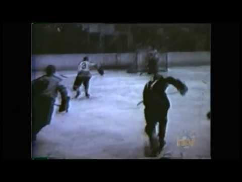 Nfld senior hockey at Grand Falls Stadium early 1960s (CJON Archives)