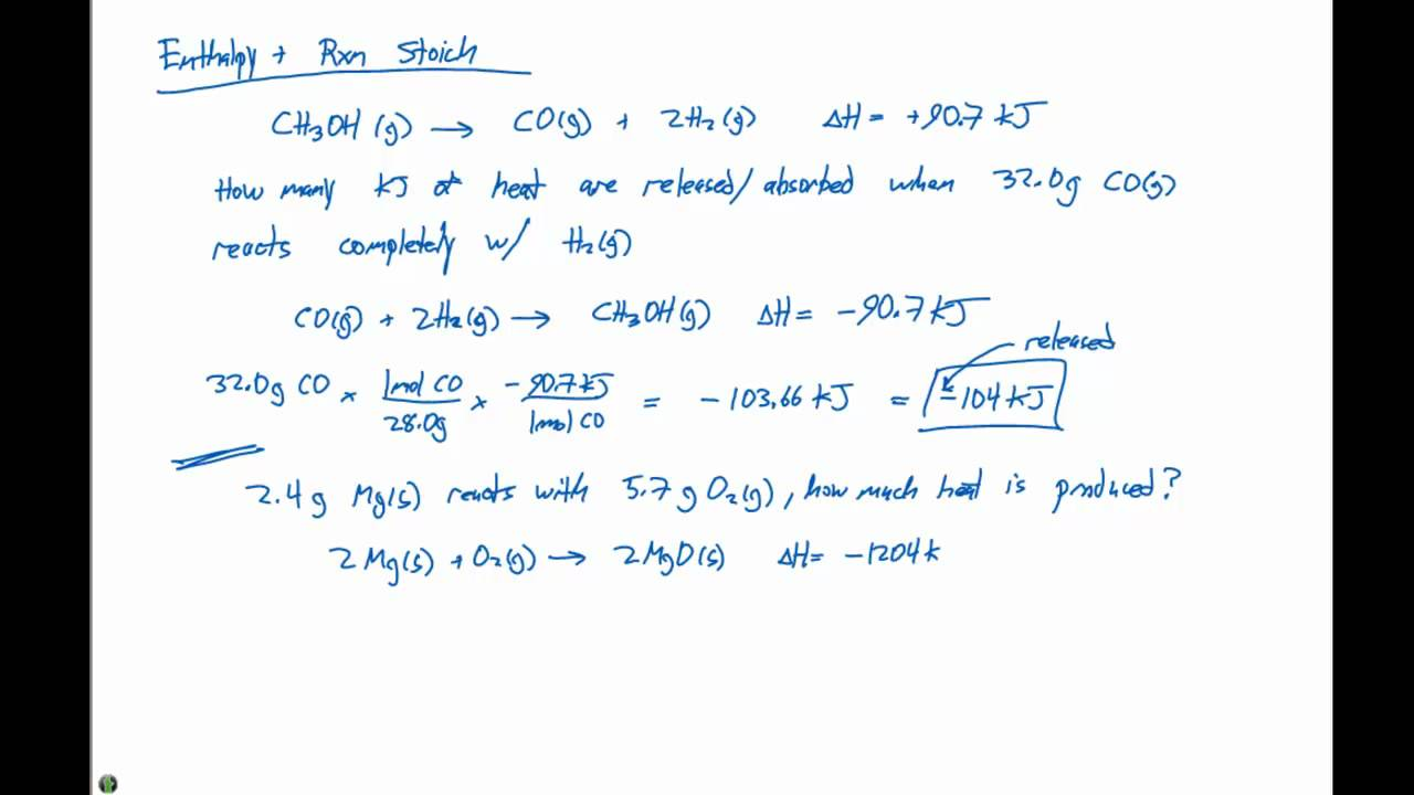 5 7 enthalpy and reaction stoichiometry