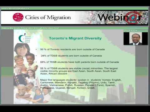 Webinar Part 2: Integration Through Education in Toronto and Zurich - Lloyd McKell