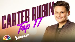 "Young Carter Rubin Performs Mariah Carey's ""Hero"" - The Voice Live Top 17 Performances 2020"