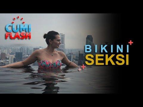 Cathrine Wilson Renang, Penampakannya Bikin Pria Cenat-cenut - CumiFlash 01 November 2017