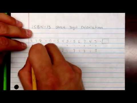ISBN 13 check digit calculation