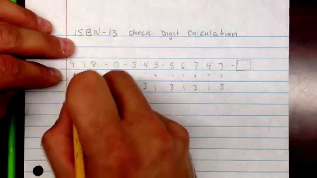ISBN 13 check digit calculation - YouTube