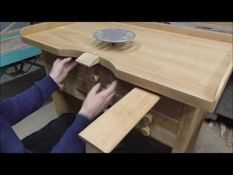 Wooden jeweler bench, wooden jeweler table, jeweler work place