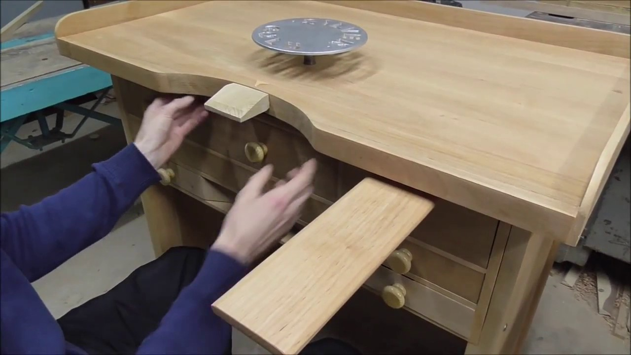 Wooden jeweler bench wooden jeweler table jeweler work place & Wooden jeweler bench wooden jeweler table jeweler work place - YouTube