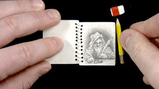 How small can I draw? - teeny drawings in the world's SMALLEST SKETCHBOOK!