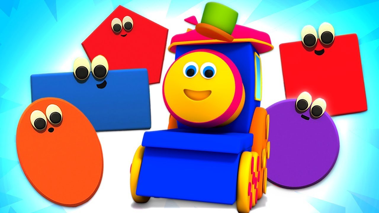 Shapes Train Bob The Train Preschool Learning Videos