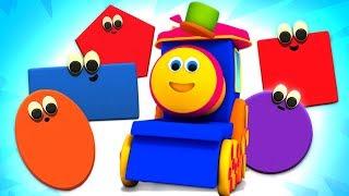 Shapes Train | Bob The Train | Preschool Learning Videos For Children