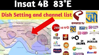 Insat 4A 83°E Dish setting and channel list 2019