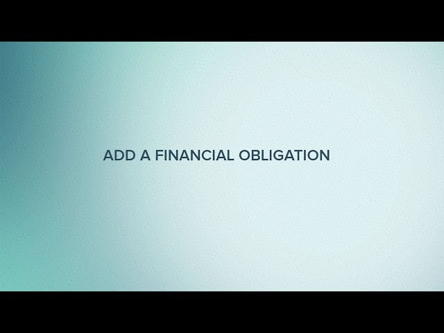 Cut Time How-To Tutorial: Add a Financial Obligation