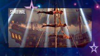 El show de estos piratas dejarían perplejo a Johnny Depp | Semifinal 1 | Got Talent España 2018