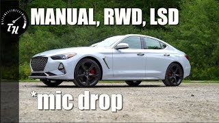 2019 Genesis G70 2.0T Sport Review // Luxury + Manual + RWD = Victory