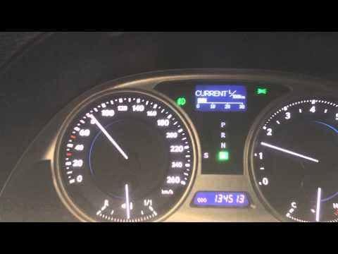 Расход топлива Lexus is 250