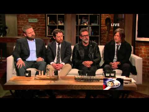 Cast of The Walking Dead asked questions on Season 6 Finale [Part 1] HD 1080P