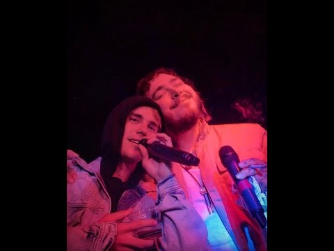 Justin Bieber & Post Malone Perform Deja Vu At Club In Hollywood, CA | January 13, 2017
