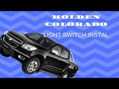 Repeat Holden RG Colorado Rocker switch installation by